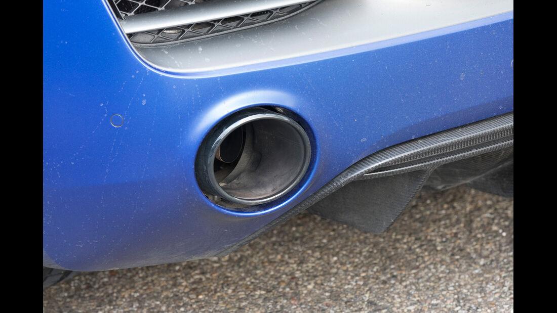 Audi R8 V10 Plus, Auspuff, Endrohr