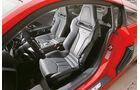 Audi R8 V10 Plus, Fahrersitz