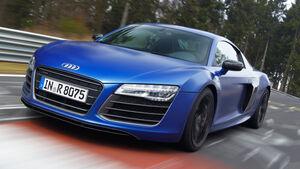 Audi R8 V10 Plus, Frontansicht, Driften