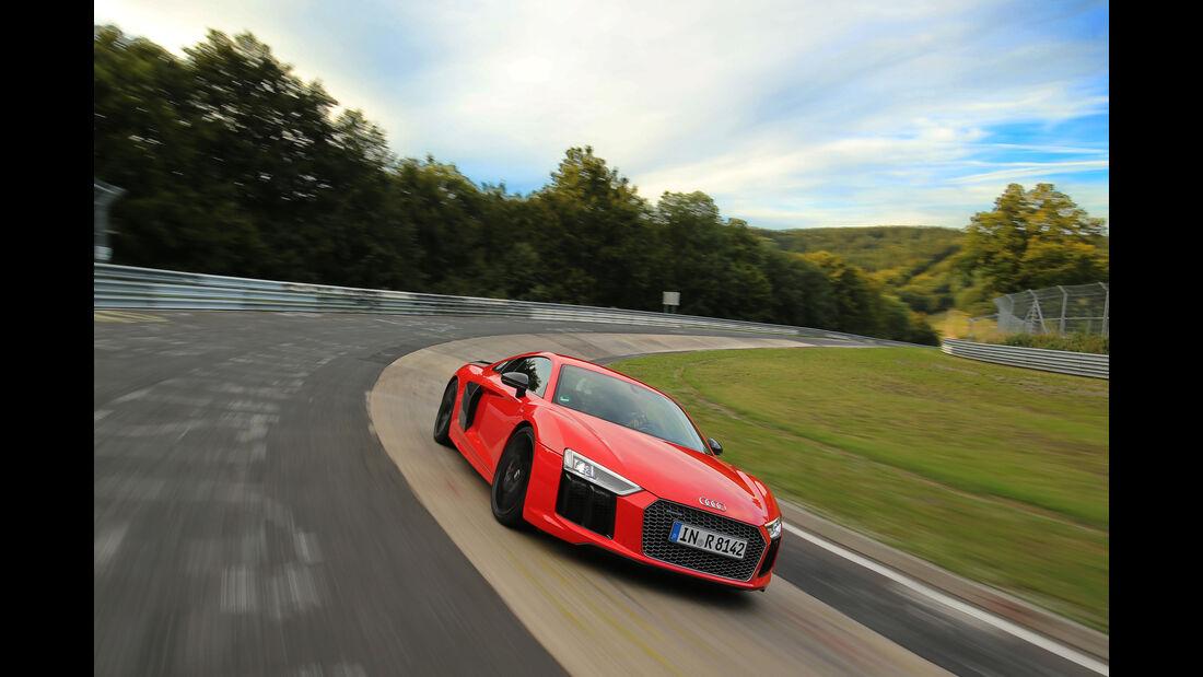 Audi R8 V10 Plus, Frontansicht, Steilwand
