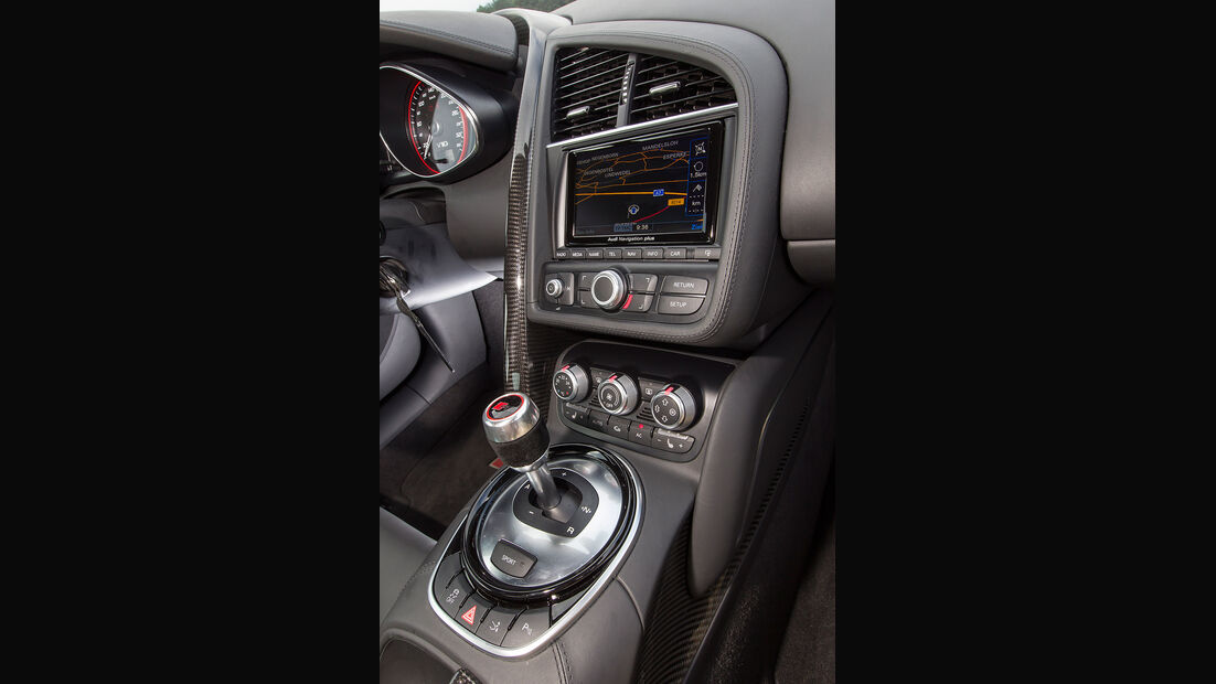 Audi R8 V10 Plus, Mittelkonsole