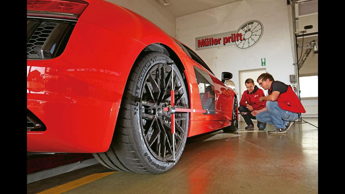 Audi R8 V10 Plus, Prüfstand, Leistungsmessung