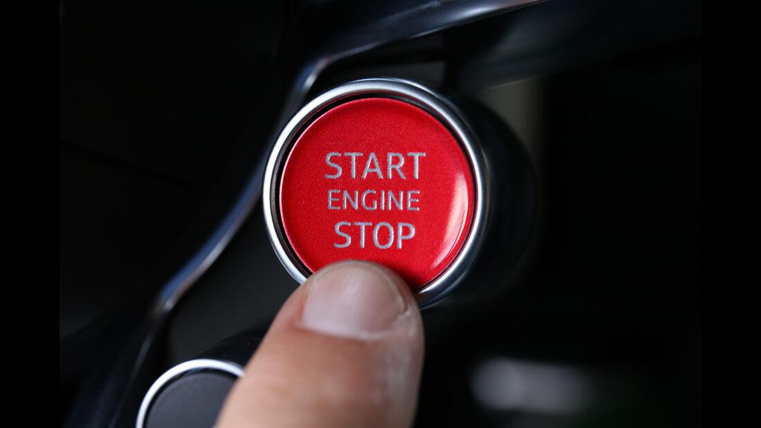 Audi R8 V10 Plus, Startknopf