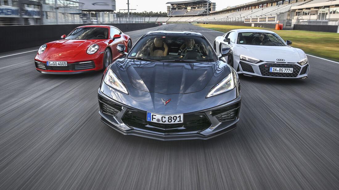 Audi R8 V10 RWD, Chevrolet Corvette Stingray, Porsche 911 Carrera S, Exterieur