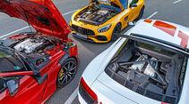 Audi R8 V10 RWS - Jaguar F-Type SVR - Mercedes-AMG GT S - sport auto 6/2018