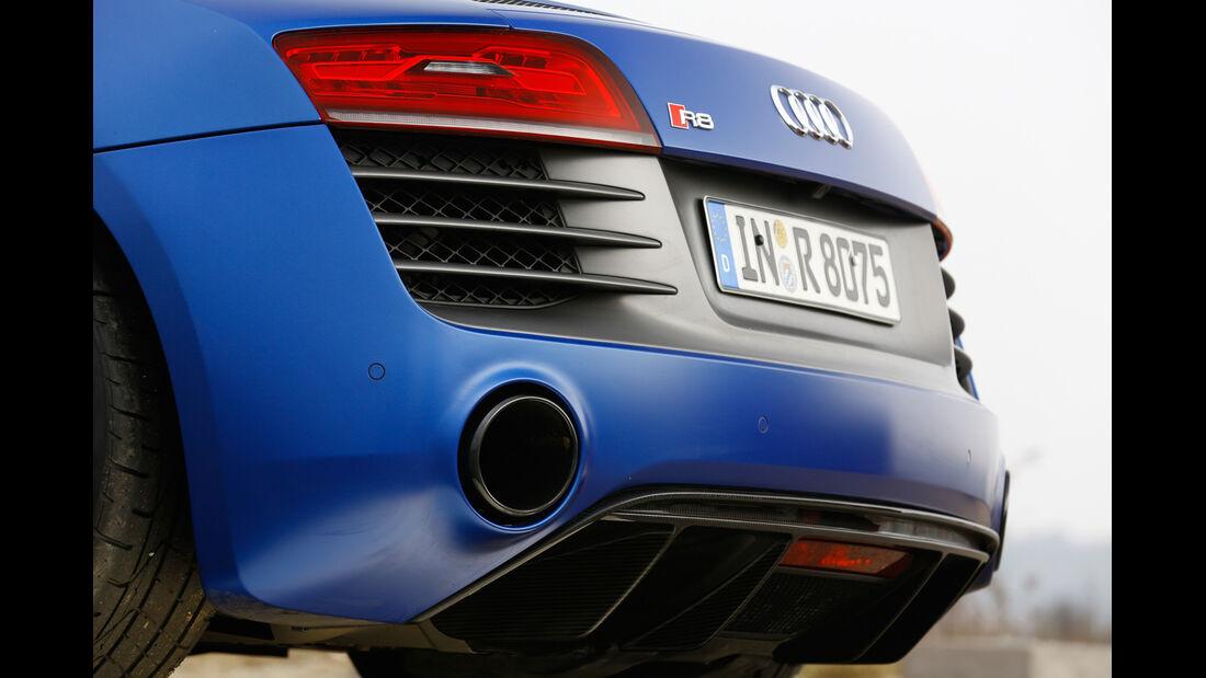 Audi R8 V10 plus 5.2 FSI, Auspuff, Endrohr