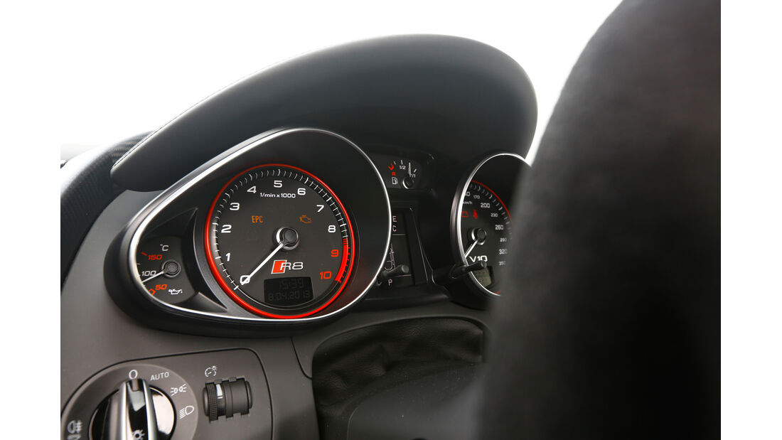 Audi R8 V10 plus 5.2 FSI, Rundinstrumente