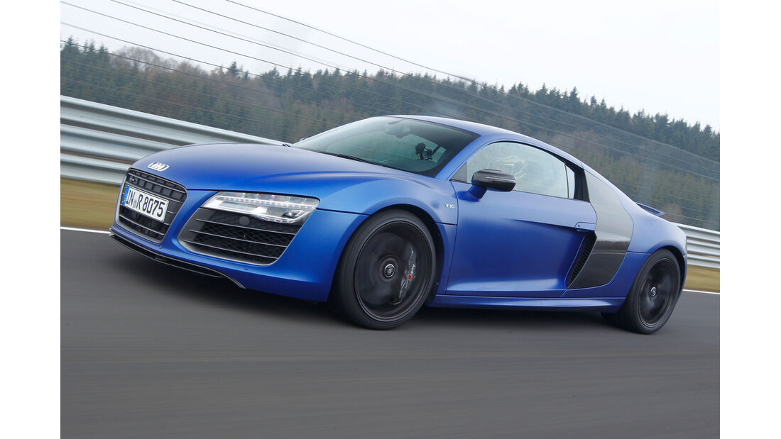 Audi R8 V10 plus 5.2 FSI, Seitenansicht