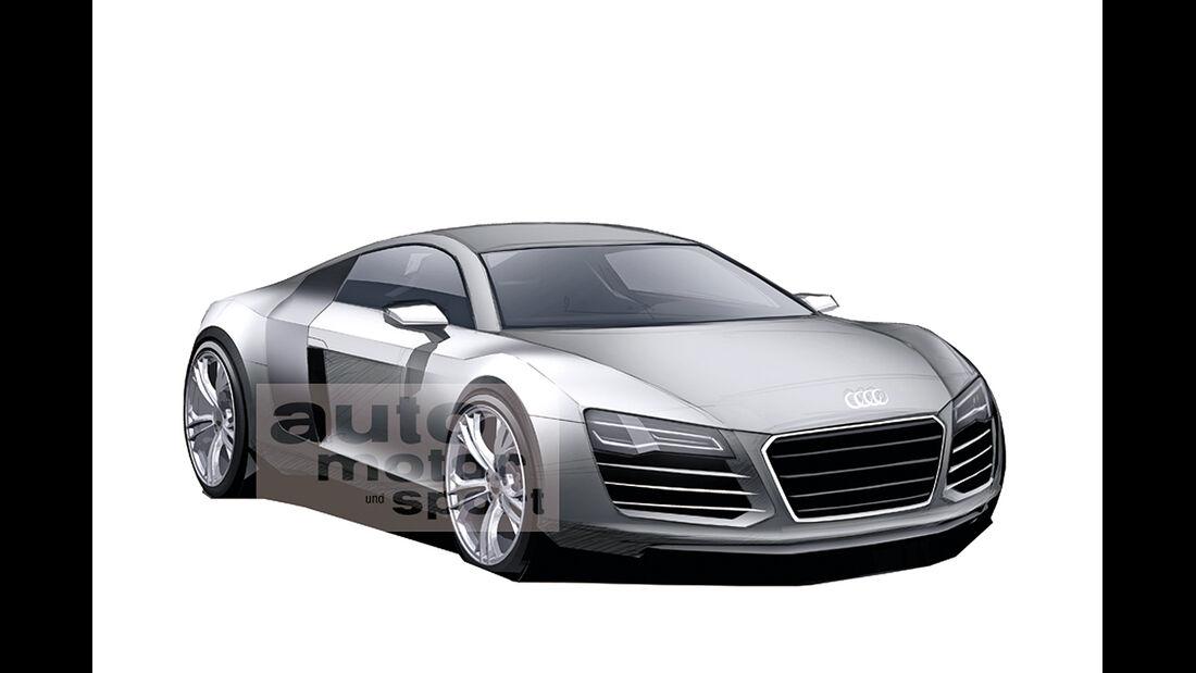 Audi R8 Zeichnung