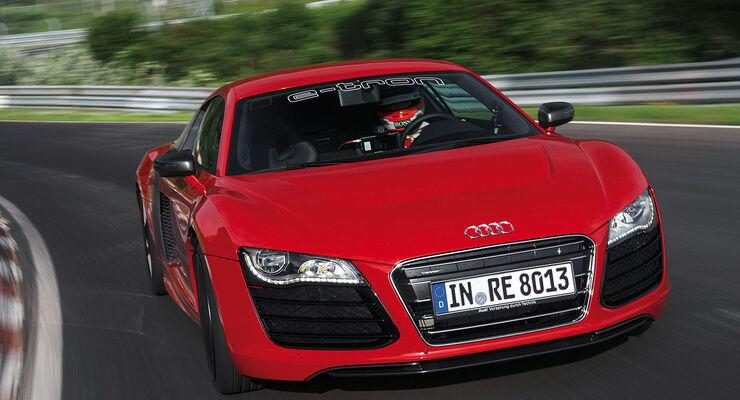 Audi R8 e-tron Rekordfahrt Nordschleife