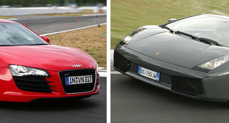 Audi R8 gegen Lamborghini Gallardo Superleggera
