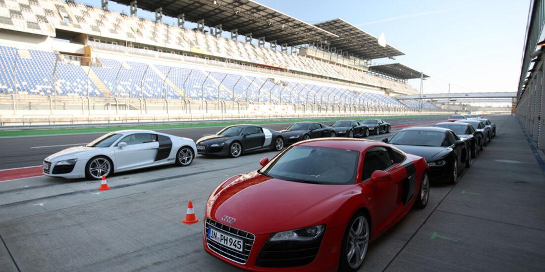 Audi R8, mehrere Fahrzeuge