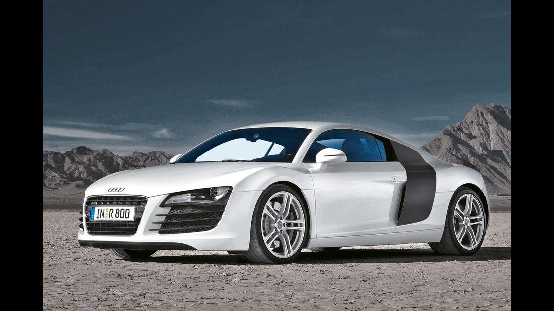 Audi R8 quattro, Seitenansicht