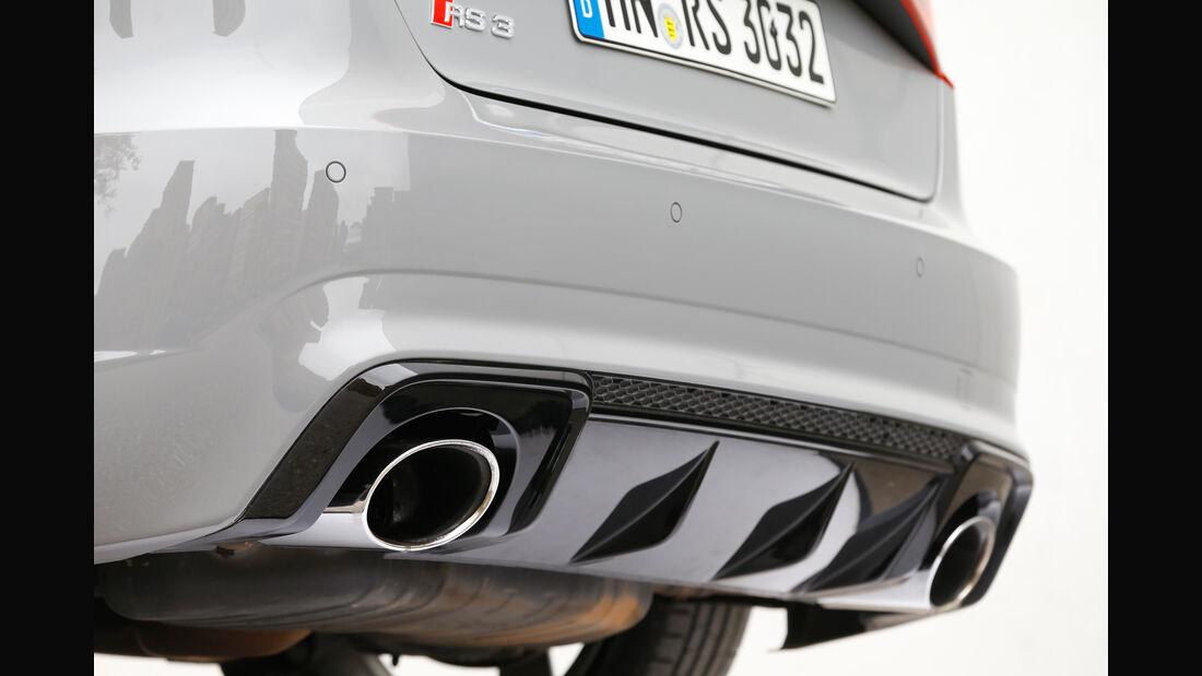 Audi RS 3 Sportback, Auspuff, Endrohre