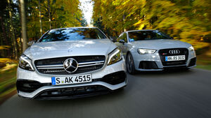 Audi RS 3 Sportback, Mercedes AMG A 45, Frontansicht