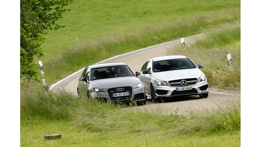 Audi RS 3 Sportback, Mercedes CLA 45 AMG Shooting Brake, Frontansicht