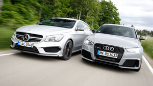 Audi RS 3 Sportback, Mercedes CLA 45 AMG Shooting Brake, Frontansicht