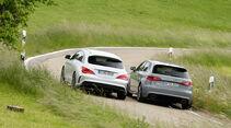 Audi RS 3 Sportback, Mercedes CLA 45 AMG Shooting Brake, Heckansicht