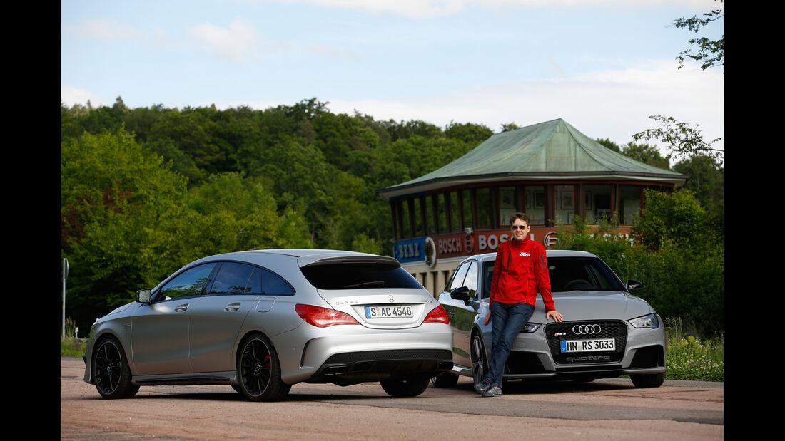 Audi RS 3 Sportback, Mercedes CLA 45 AMG Shooting Brake, Stefan Helmreich