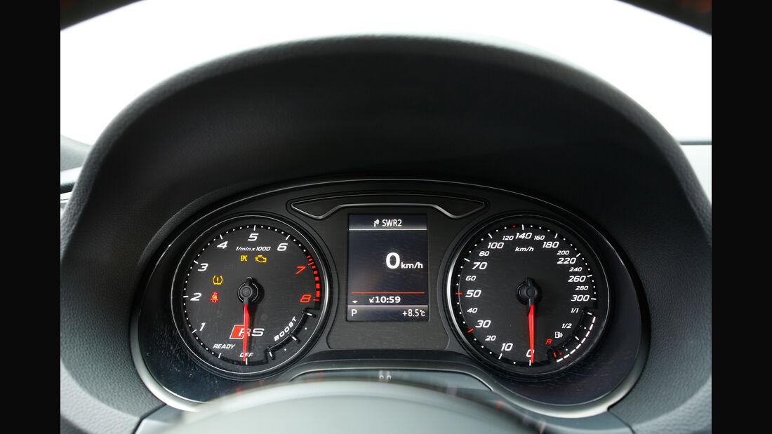 Audi RS 3 Sportback, Rundinstrumente