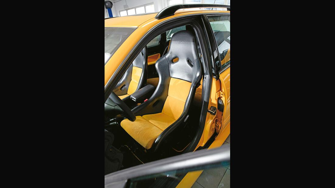 Audi RS 4, Fahrersitz