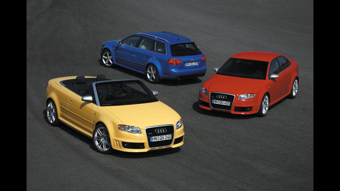 Audi RS 4 Limousine, Avant und Cabriolet - Baureihe B7