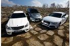 Audi RS 5, BMW M3, Mercedes C 63 AMG, Frontansicht