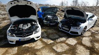 Audi RS 5, BMW M3, Mercedes C 63 AMG, Motoren