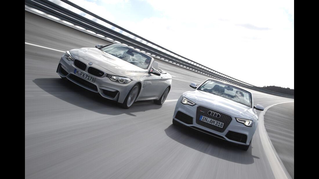 Audi RS 5 Cabriolet, BMW M4 Cabrio, Frontansicht