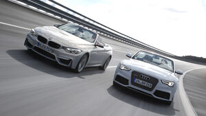 Audi RS 5 Cabriolet, BMW M4 Cabrio, Frontansicht