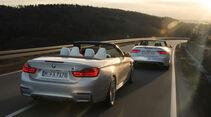 Audi RS 5 Cabriolet, BMW M4 Cabrio, Heckansicht