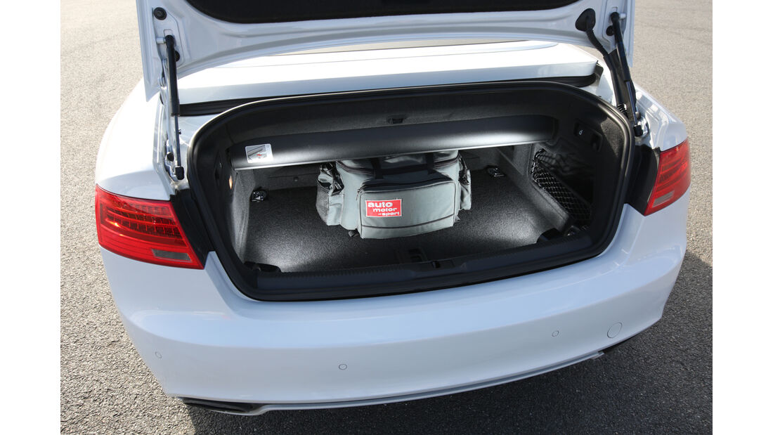 Audi RS 5 Cabriolet, Kofferraum