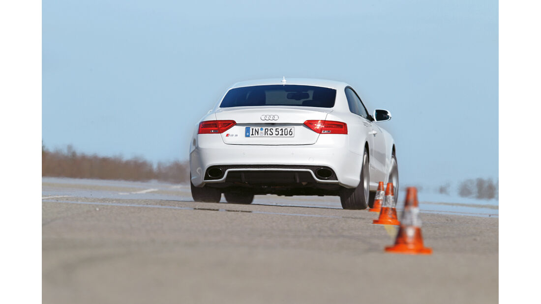 Audi RS 5 Coupé, Heck, Slalom