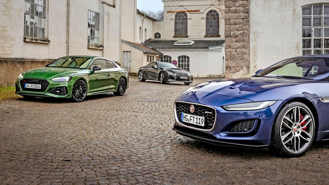 Audi RS 5, Jaguar F-Type, Lexus LC 500, Exterieur