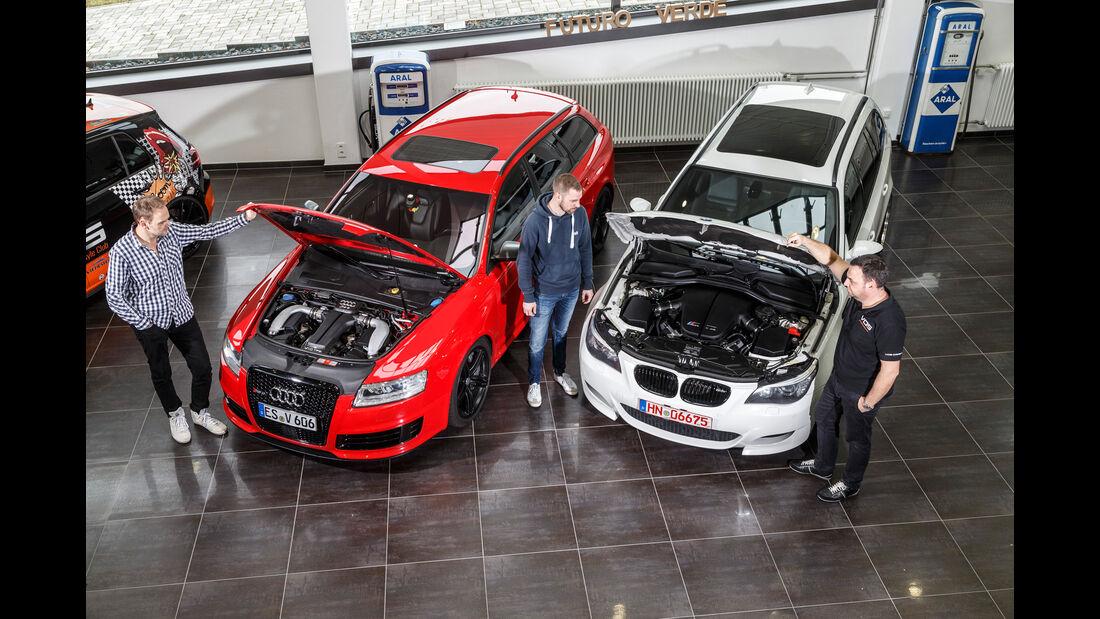 Audi RS 6 Avant, BMW M5 Touring, Motor