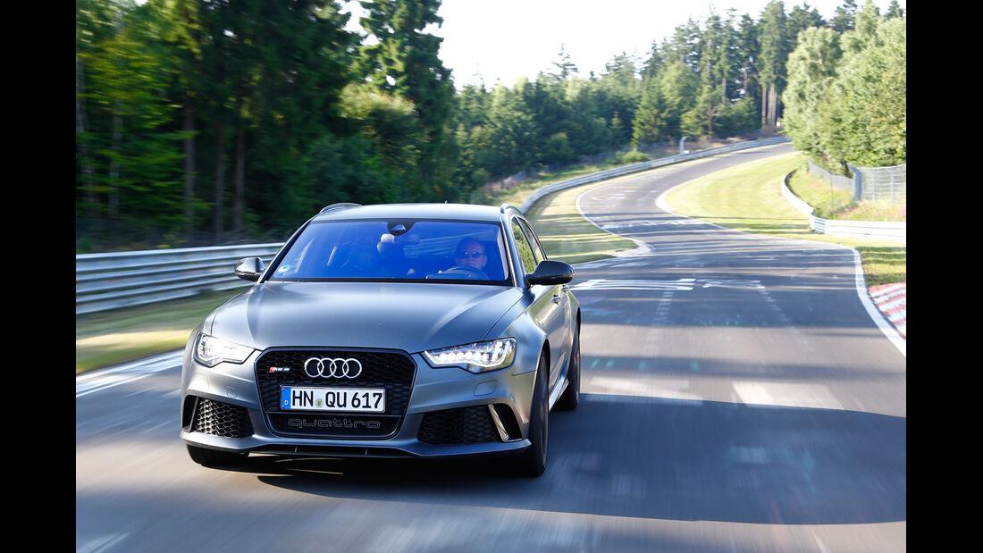 Audi RS 6 Avant, Frontansicht, Nordschleife