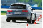 Audi RS 6 Avant, Heckansicht, Slalom