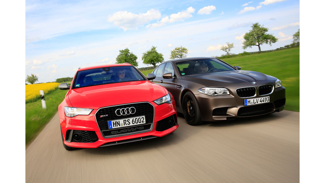 Audi RS 6 Avant Performance, BMW M5 Competition, Frontansicht