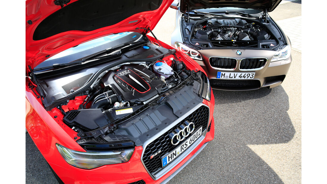 Audi RS 6 Avant Performance, BMW M5 Competition, Motor