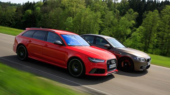 Audi RS 6 Avant Performance, BMW M5 Competition, Seitenansicht