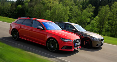 Audi RS 6 Avant Performance, BMW M5 Competition, Seitenansicht