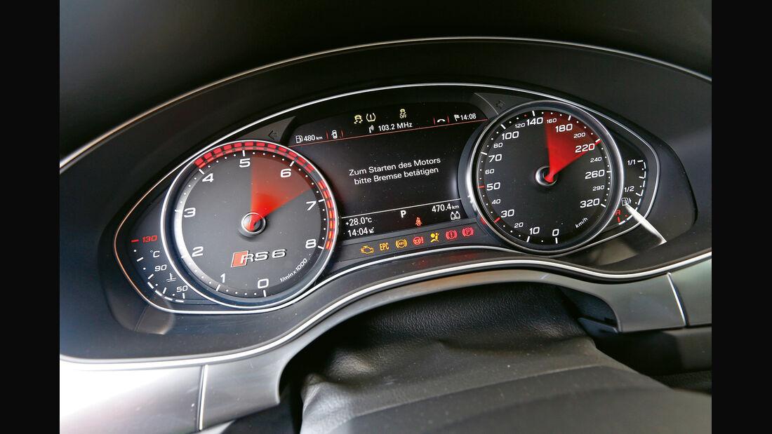 Audi RS 6 Avant, Rundinstrumente