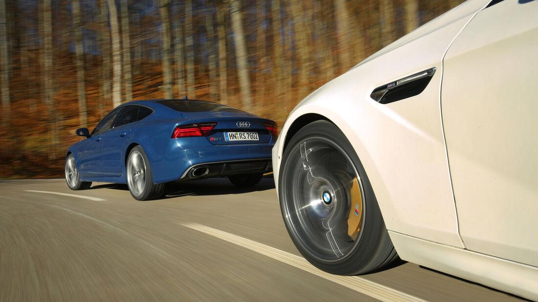 Audi RS 7  Sportback, BMW M6 Gran Coupé, Impression