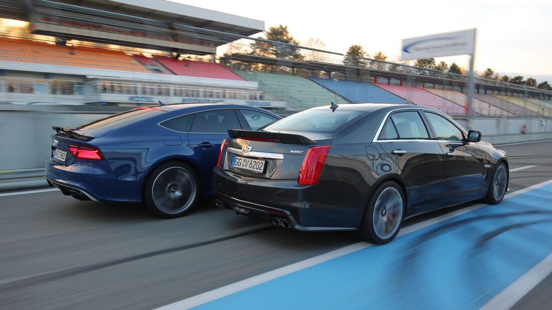 Audi RS 7 Sportback Performance, Cadillac CTS-V, Heckansicht