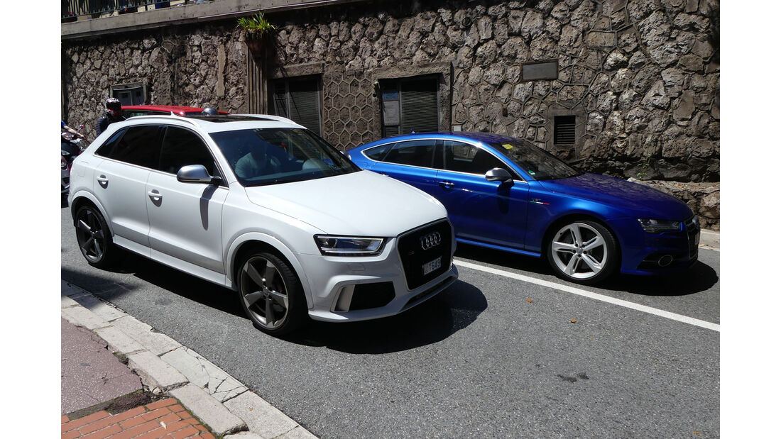 Audi RS Q3 - Audi RS7 - Carspotting - GP Monaco 2018