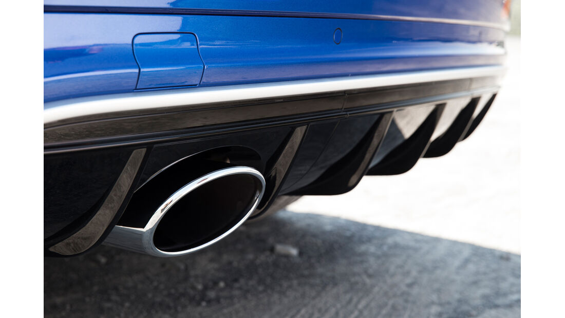 Audi RS Q3, Auspuff, Endrohr