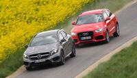 Audi RS Q3, Mercedes GLA 45 AMG, Frontansicht