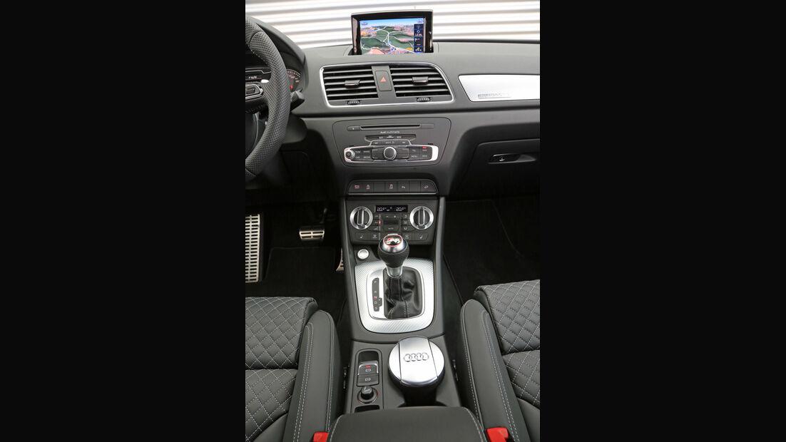 Audi RS Q3, Mittelkonsole