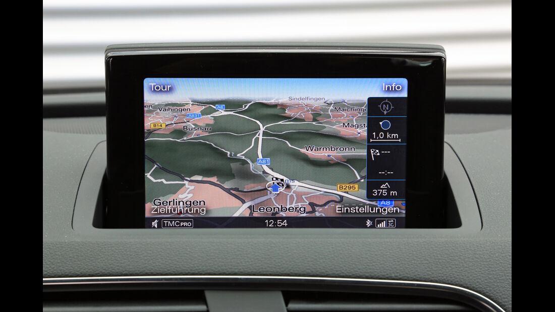 Audi RS Q3, Navi, Bildschirm