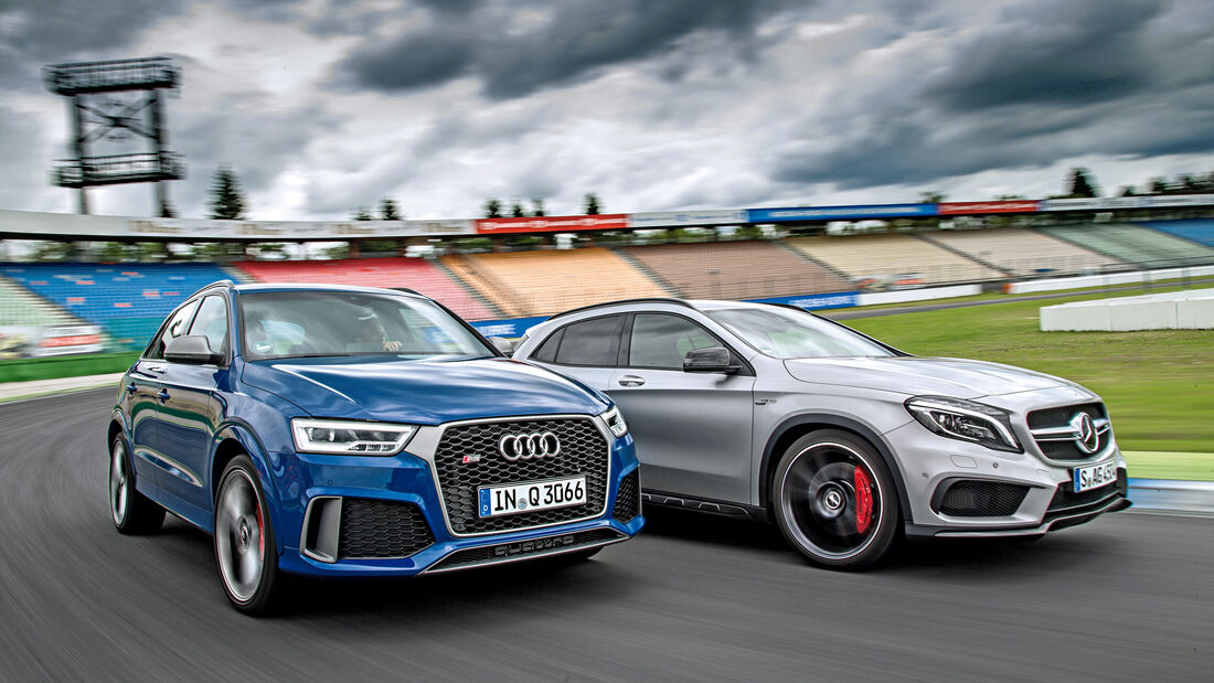 Audi RS Q3 Performance, Mercedes-AMG GLA 45 4Matic, Frontansicht